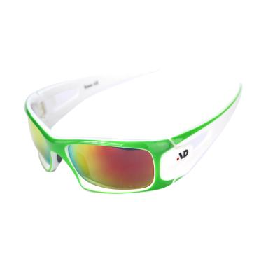 iDealEZ PC REVO Lenses Sports Sunglasses - Green White