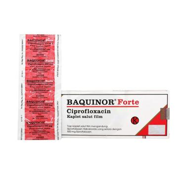 Baquinor Forte Kaplet Obat [500 mg/10 Tablet/Strip]