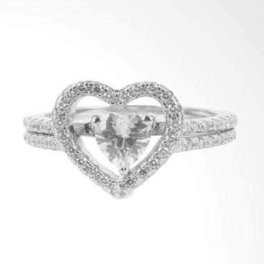 D'Paris Ring Zircon Love Cincin Wanita