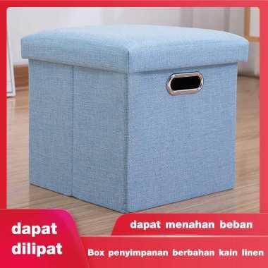 harga Perabotan rumah tangga yang multifungsi, box penyimpan yang dapat dilipat dan dapat digunakan menjadi kursi saat anda mengganti sepatu Biru Blibli.com