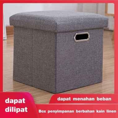 harga Perabotan rumah tangga yang multifungsi, box penyimpan yang dapat dilipat dan dapat digunakan menjadi kursi saat anda mengganti sepatu Abu-abu tua Blibli.com