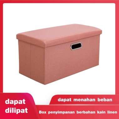 harga Perabotan rumah tangga yang multifungsi, box penyimpan yang dapat dilipat dan dapat digunakan menjadi kursi saat anda mengganti sepatu Orange-Persegi panjang Blibli.com