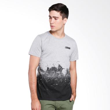3SECOND Men T-Shirt Pria - Grey [1.09.11.17.12]
