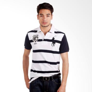 POLO RALPH LAUREN Stripe Custom Fit ... White Black - X86AVWEN4D5