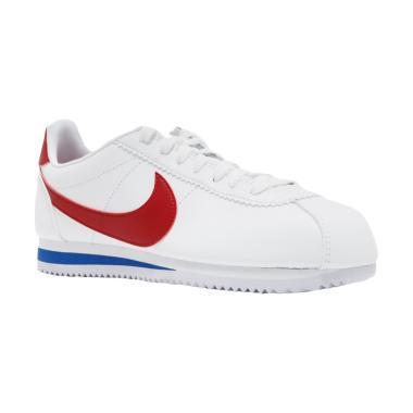 c22023aab3f NIKE Classic Cortez SE Sepatu Sneakers Unisex - White Red Blue  807471-103
