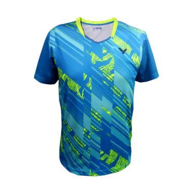 Victor T- Shirt Kaos Badminton Pria [AT-7000M Blue]