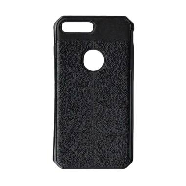 LOLLYPOP Leather Premium Casing for Iphone 8 Plus - Black
