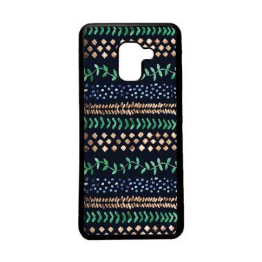 HEAVENCASE Motif Unik Batik Tribal  ... ng Galaxy A8 2018 - Hitam