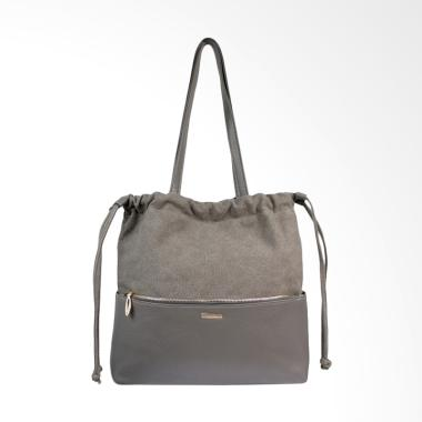 Bellezza 61539-01 PU dan Fabric Bag Tas Wanita - Grey