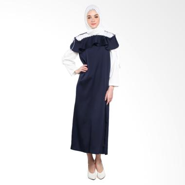 Covering Story D Agnica Long Dress Muslim - Navy