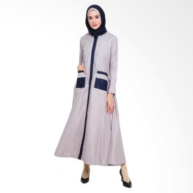 Allev Mufliha Abaya Dress Muslim Wanita - Silver