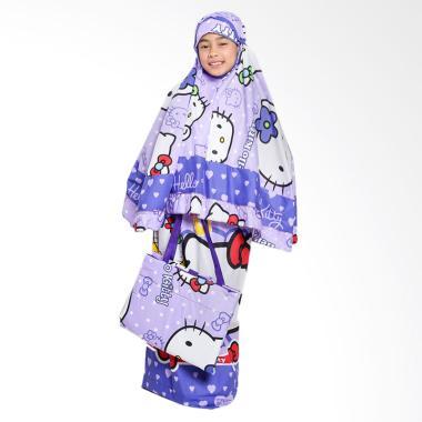 Zahra Kids Hello Kitty Polkadot Mukena Anak - Ungu Tua