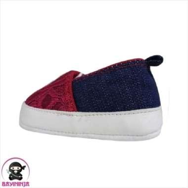 harga Promo LUSTY BUNNY Sepatu Bayi Prewalker Sol Kain Anti Slip PS8303 - 120 mm MERAH Berkualitas Blibli.com