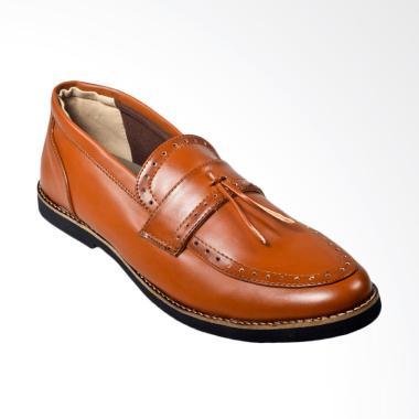 Giant Flames Pietra Vintage Pantofel Sepatu Pria - Brown
