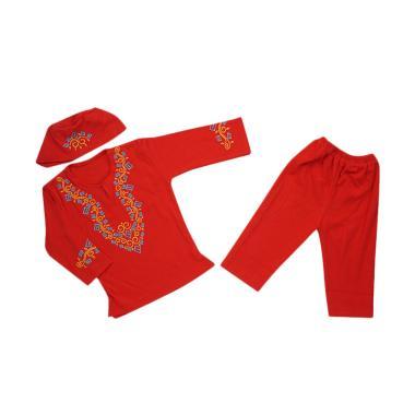 Koko Kids BKK Setelan Baju Koko Anak Laki-Laki - Red