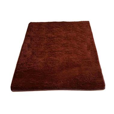 Rasfur Karpet Bulu - Coklat Tua [200 x 150 x 3 cm]