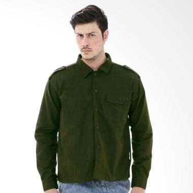 Crows Denim Green Casual Trend Shirt Jacket Pria
