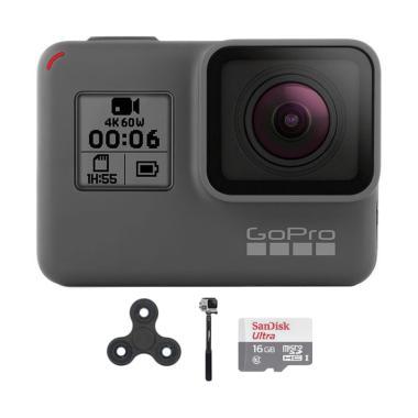 GoPro Hero 6 Combo Attanta Supreme 16GB Spin Action Camera - Black