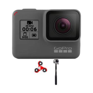 GoPro Hero 6 Tongsis Monopod Attant ... ndo Action Camera - Black