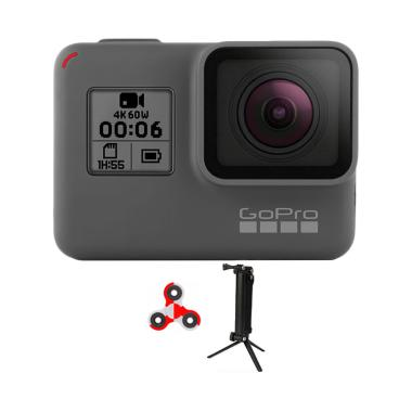 GoPro Hero 6 3 Way Monopod SpinIndo Action Camera - Black