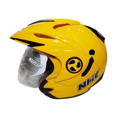 harga NHK Aviator Double Visor Helm Half Face - Solid Yellow Blibli.com