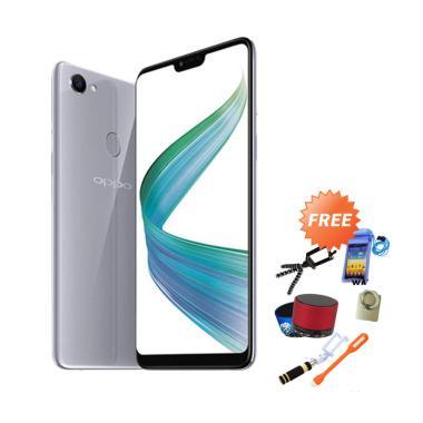 Oppo F7 Smartphone - Silver [64 GB/ 4 GB] + Free 8
