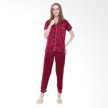 Okechuku CP Baju Tidur Wanita Tangan Pendek - Maroon