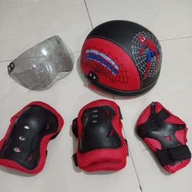 harga Unik helm sepeda anak  sepatu roda - merah slide 3 Berkualitas Blibli.com
