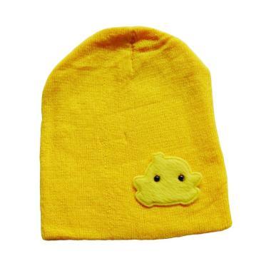 Baby Hat Beanie Bordir Motif Chick Anak Ayam Kupluk Topi Bayi - Yellow