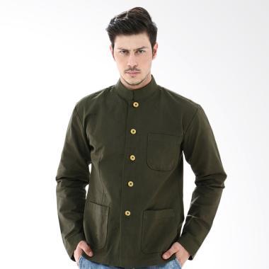 Crows Denim Casual Fashionable Jaket Pria - Green