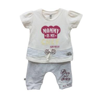 Baby Needs BN8075 Setelan Baju Bayi Perempuan - Cream 100
