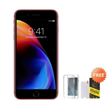 iPhone 8 Plus 64GB Smartphone - Red + Free Tempered Glass + Softcase