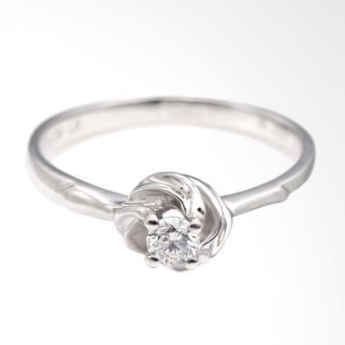 Tiaria Promise Knot Ring Cincin Tunangan Emas dan Berlian [18K]