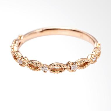 Tiaria Endurance Ring Perhiasan Cincin Tunangan Emas dan Berlian [18K]