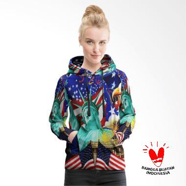Fika Tema Liberty 4th July 3D Full Print Sublimation Model PullOver Art 1 Hoodie  Sweater Wanita 324b0adbba
