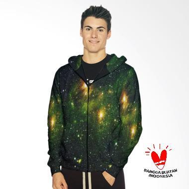 Fika Tema Galaxy 3D Full Print Subl ... r Art 1 Hoodie Jaket Pria