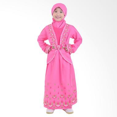 Jesca and Paul Phelia 215 Gamis Baju Muslim Anak - Pink