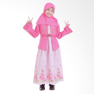 Jesca and Paul Selena 218 Gamis Baju Muslim Anak - Magenta