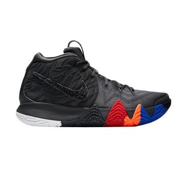 NIKE Kyrie 4 Sepatu Basket Pria - Black Grey