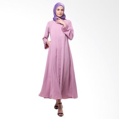 Allev Safira Dress Muslim Wanita - Dusty Ungu