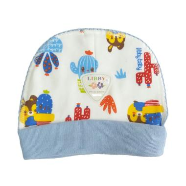 Libby MOMO Motif Topi Bayi - Biru