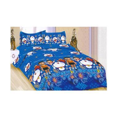 Bonita Motif Batik Doraemon Set Sprei - Biru