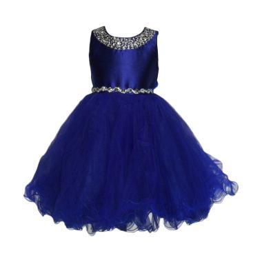 VERINA BABY Tutu Variasi Sequin Dress Pesta Anak - Biru