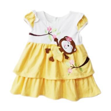 TWO MIX 2041 Monyet Cantik Dress Baby - Kuning