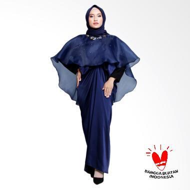 Anf Boutique Amaya Cape Dress Muslim Wanita - Navy