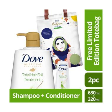 Dove Total Hair Fall Treatment Sham ... ited Edition Totebag Blue