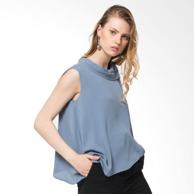 The Executive 5-Slwsig218B001 Blouse Wanita - Dusty Blue