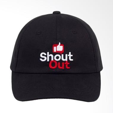 Jersi Clothing Shout Out Baseball Cap Topi Pria - Hitam