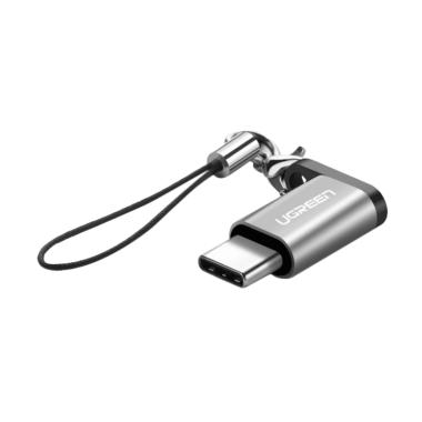 Ugreen US189 Micro to USB-C Adapter Support OTG with Keychain - Silver