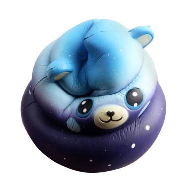 Dreamwood Crazy Bear Poop 2 Warna Squishy Mainan Anak [Size Jumbo/10 cm]